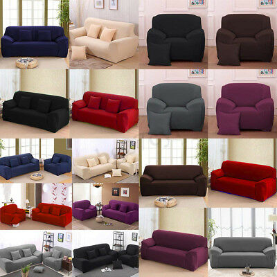 EASY Stretch Couch Sofa Lounge Covers Recliner 3 Seater Dining Cover AU