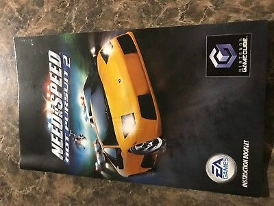 Need For Speed Hot Pursuit 2 - Nintendo Gamecube - Instruction Manual Only