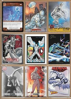 Iceman, X-Men, Marvel card and sticker lot
