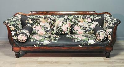 Attractive Large Antique Victorian Faux Rosewood Mahogany Settee Couch Sofa
