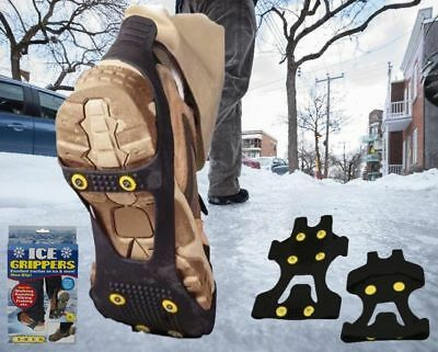 Snow Ice Grips Universal Anti Slip Spikes Crampon Boot Over Shoe Grippers Cleats