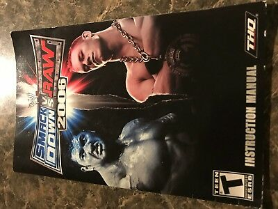 Wwe Smackdown Vs Raw 2006 - Playstation 2 Ps2 - Instruction Manual Only