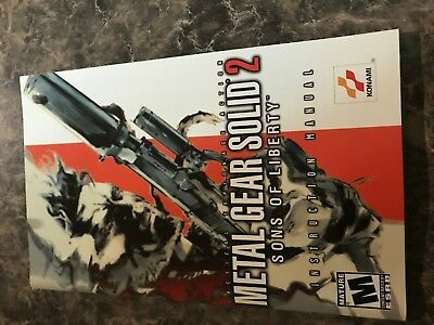 Metal Gear Solid 2 Sons Of Liberty - Playstation 2 Ps2 - Instruction Manual Only