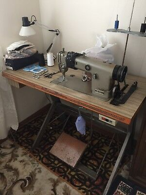 BROTHER INDUSTRIAL SEWING MACHINE ANTIQUE incl TABLE & MOTOR