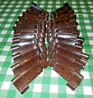24 Bakelite Carpet Stair Clips [12 Pairs];art Deco Vintage Sunbeam Pat392800/32