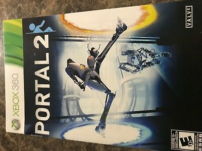 Portal 2 - Xbox 360 - Instruction Manual Only