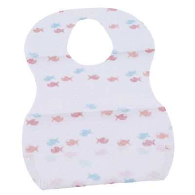 Portable Disposable Bibs Children Baby Waterproof Sterile Eat Bibs+Pocket  6A
