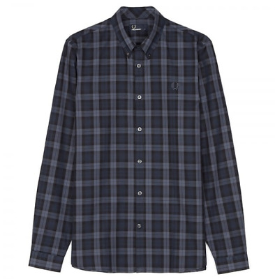 Fred Perry Winter Tartan Shirt/Black - Small WAS £80.00