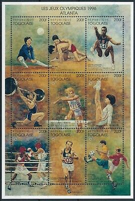 [H15637] Togo 1996 OLYMPICS - Sports Good sheet very fine MNH