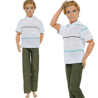 Fashion Daily Outfit T-shirt Pants Accessories Clothes For 12 in. Ken Doll Gift
