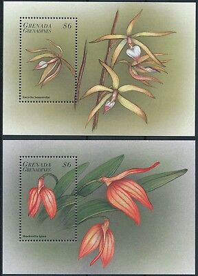 [H15911] Grenada Grenadines 1998 ORCHIDS Good lot of 2 sheets very fine MNH