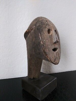 Old African Tribal Wooden Head Carving