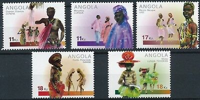 [H16452] Angola 2001 COSTUMES - Culture Good set of stamps very fine MNH