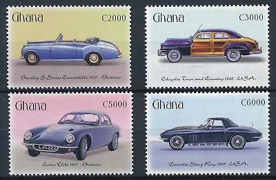[H16506] Ghana 2001 CARS - Motor vehicles Good set of stamps very fine MNH