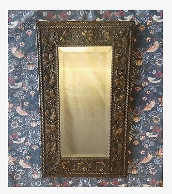 Good Quality Brass Arts And Crafts / Art Nouveau Mirror
