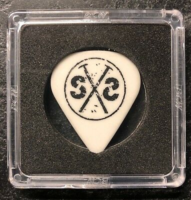 "Stone Sour Josh Rand 2006 ""Come Whatever May"" white SS hammer logo guitar pick"
