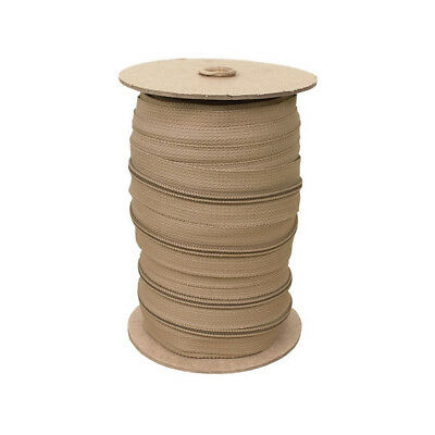 Zippers by the Roll, 215 yards - TAN, Nylon