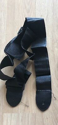 New Black Nylon Acoustic Electric Guitar Strap - USA