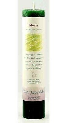"Crystal Journey's ""Money Draw"" Charged Pillar Candle!"