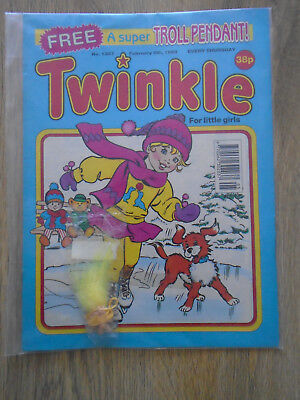 Twinkle Comic # 1307 Feb 6th 1993 & Free Gift Troll Pendant