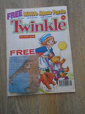 Twinkle Comic # 1415, March 4th 1995 with free gift, wildlife jigsaw puzzle