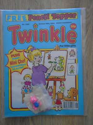 Twinkle Comic # 1290, Oct 10th 1992 & Free gift Pencl Topper