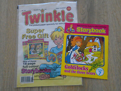 Twinkle Comic # 1242 Nov 9th 1991 & free gift storybook 7, Goldilocks
