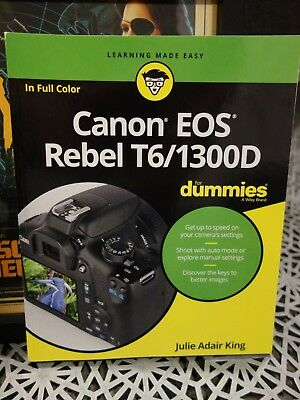 Canon EOS Rebel T6/1300D For Dummies - Tutorial Learning Book Manual 1300D DSLR
