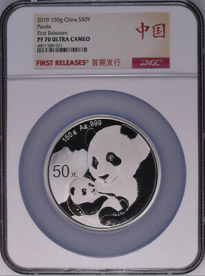 NGC PF70 2019 China Panda 150g Silver Coin First Releases with COA