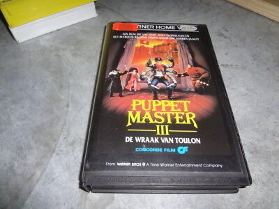 vhs - Puppet Master III: Toulon's Revenge (David DeCoteau) - WARNER HOME VIDEO