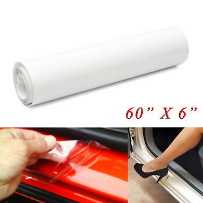 """60""""x 6"""" Car Door Sill Edge Paint Clear Protection Scratches Vinyl Film Sticker"""