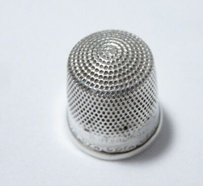 Antique Stern Goldsmith Sterling Silver Sz 12 Thimble (Holes)