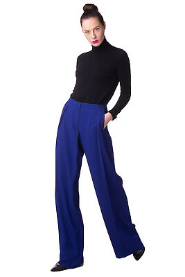 EMPORIO ARMANI Tailored Trousers Size 40 / S Pleated Made in Italy RRP €379