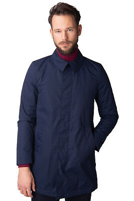 8 Mac Coat Size S Thermore Hidden Full Button Collared Made in Italy RRP €215