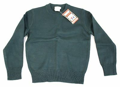 Dennis Uniform Unisex Youth Crew Neck Pullover Sweater Green CB8 Size YS NWT