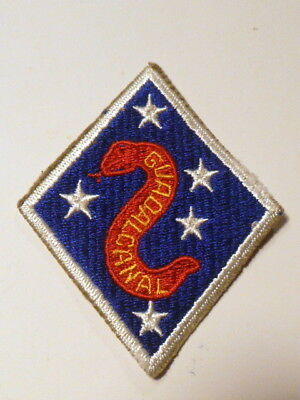 A   WW 2 U S Marine Corps 2nd Division O D Backing  Cut Edge Snow Back Patch
