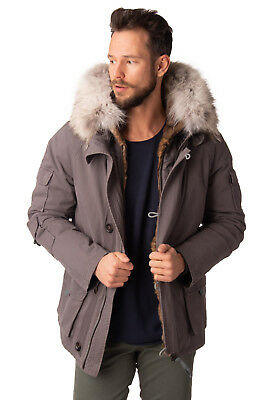 YVES SALOMON HOMME 3in1 Parka Jacket Size 48 / M Rabbit & Coyote Fur RRP €2450