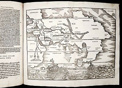 1543 SOLINUS MELA GEOGRAPHY MAPS Asia Africa Europe Grece Russia America MÜNSTER