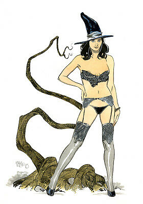 Sexy Witch  ....color  original  pin  up art  by Paradis