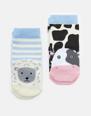 Joules Baby 125031 Character Socks in FARM