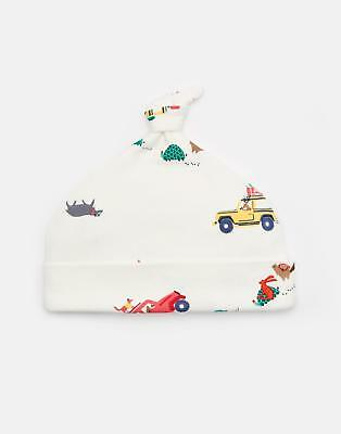 Joules Baby Koo Printed Jersey Hat in CREAM SCOUT