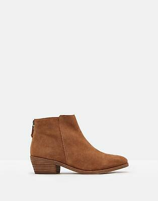 Joules Womens Langham Leather Ankle Boots in LIGHT BROWN