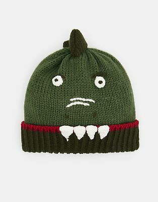 Joules Boys Chummy Character Hat in DINOSAUR Size 8yrin12yr