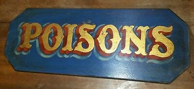 Poison Apothecary Chemist Pharmacy Bottle Pot Lid Ointment Eye Bath Vintage Sign