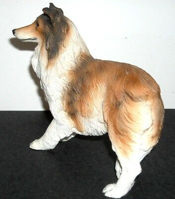 COLLIE STANDING #60391 - ALP136 Gorgeous Alabaster/Resin - NEW Perfect Condition