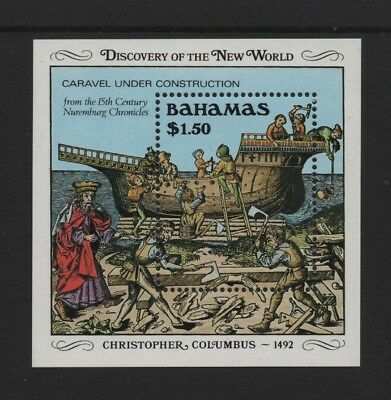 BAHAMAS 1989 500th ANNIV OF DISCOVERY OF AMERICA (2nd) M/SHEET *VF MNH*