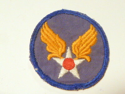 A   WW 2 U S Army Air Forces  Cut Edge Cotton Cheese Cloth  Back  Patch