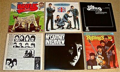 3 Early BEATLES RARE LPs & 2 of Beatles in 1970'/80s-RARE music & interviews+Mag