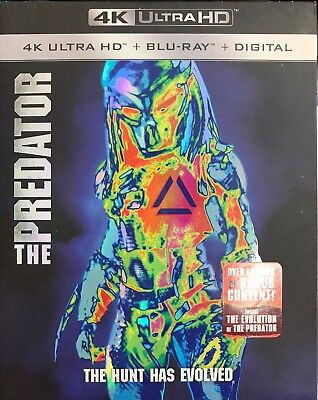 THE PREDATOR 2018 4K UHD/Blu-ray + Digital HD, Brand New Sealed