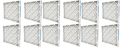 Air Handler 12 Pack 16x25x1 Synthetic Pleated Air Filter with MERV 7, Free S/H